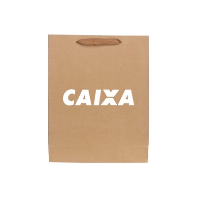 Picture of Medium Vertical Paper Bag with Fabric Fl