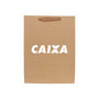 Large Vertical Paper Bag with Fabric Fla
