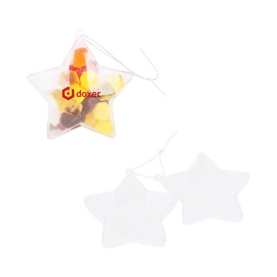 Picture of Star Shaped Clear Plastic Ornament