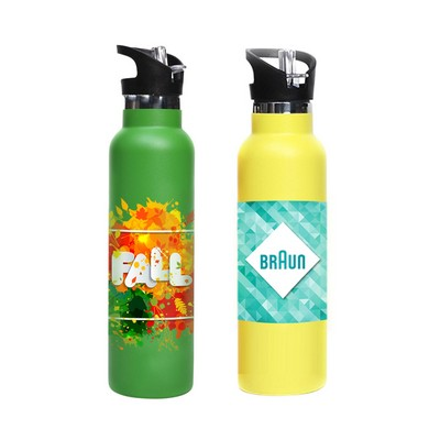 Picture of 600ml Double Wall Vacuum Bottle with Fli