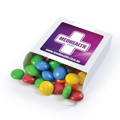 Picture of M&M s in 50 Gram Box