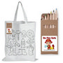 Colouring Short Handle Cotton Bag with P