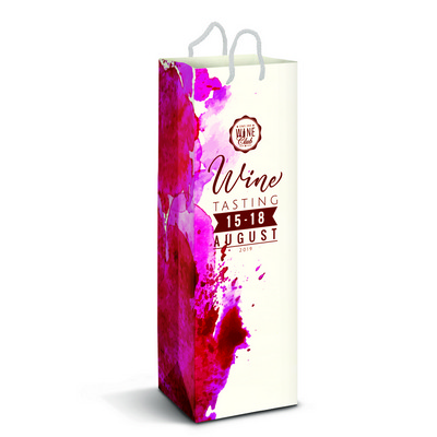Picture of Laminated Paper Wine Bag - Full Colour