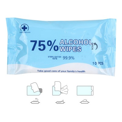 Picture of 75% Alcohol Wet Wipes - 10PC Pack
