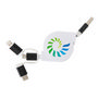 3-In-1 ABS Retractable Charging Cable