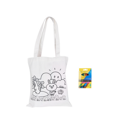 Picture of Medium Colouring Bag with Crayons