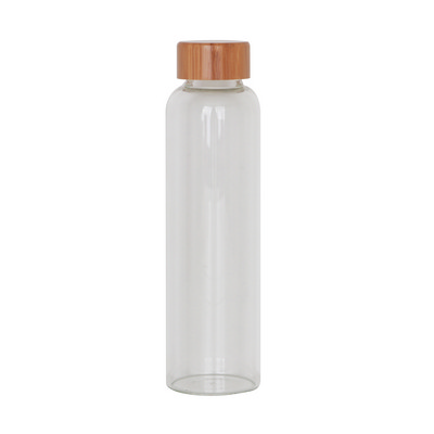 Picture of 550ml Glass Drink Bottle with Bamboo Lid