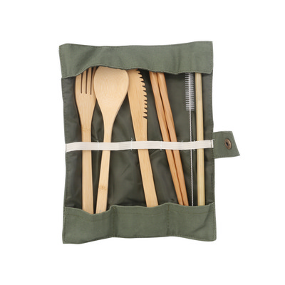 Picture of 6 pieces Bamboo Cutlery Set