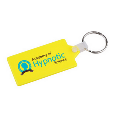 Picture of Rectangular Hard Plastic Keyring