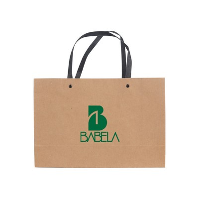 Picture of Small Crosswise Paper Bag with Knitted H