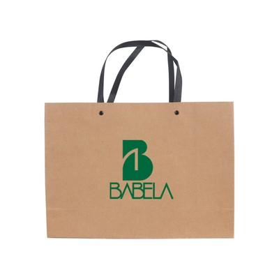 Picture of Large Crosswise Paper Bag with Knitted H