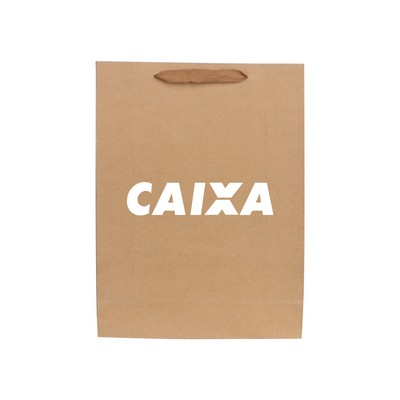 Picture of Large Vertical Paper Bag with Fabric Fla