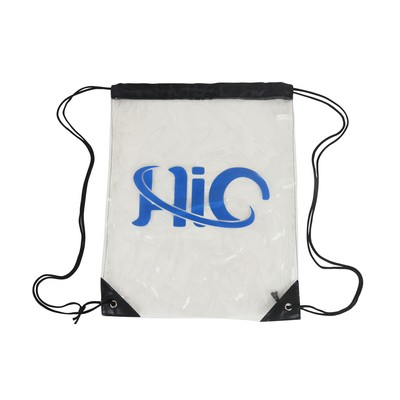 Picture of Clear PVC Drawstring Bag