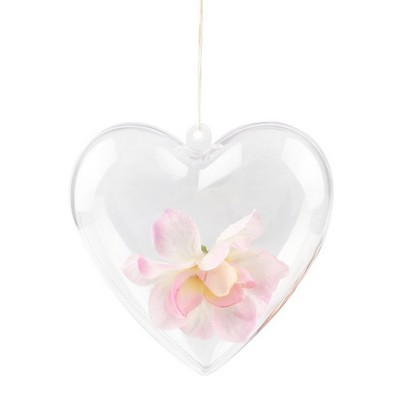 Picture of Heart Shaped Clear Plastic Ornament
