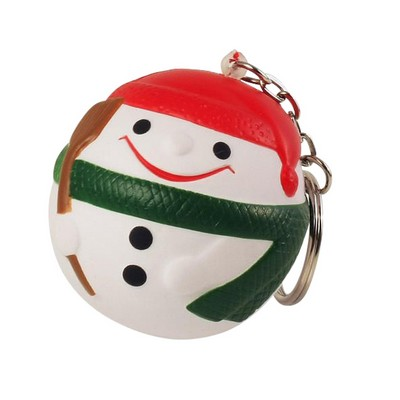 Picture of Snow Man with Keyring Stress Item