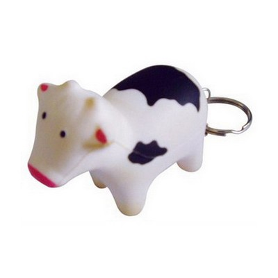 Picture of Cow with Keyring Stress Item