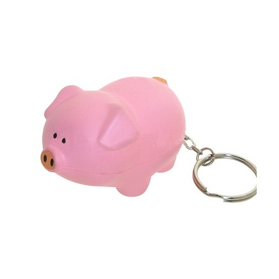 Picture of Pig with Keyring Stress Item