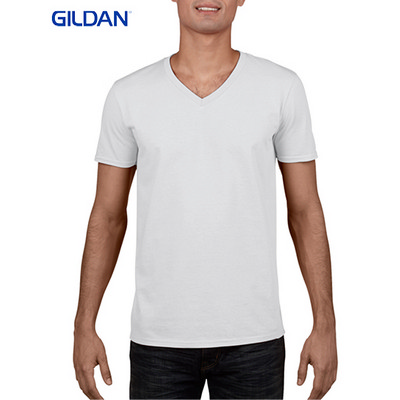 Picture of Gildan Sofystyle Adult V-Neck T-Shirt Wh