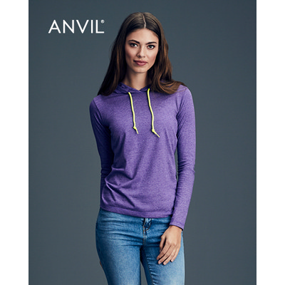 Picture of Anvil Womens Lightweight Long Sleeve Hoo
