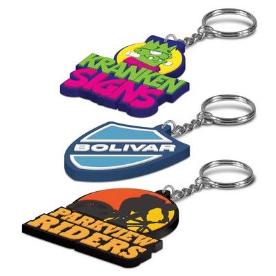 Picture of PVC Key Ring Small - One Side Moulded