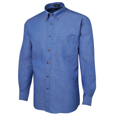 Picture of JBs L/S Indigo Chambray Shirt -S
