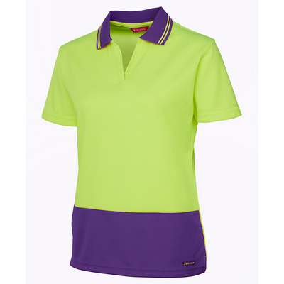 Picture of JBs Hv 4602.1 Ladies S/S Non Button Polo