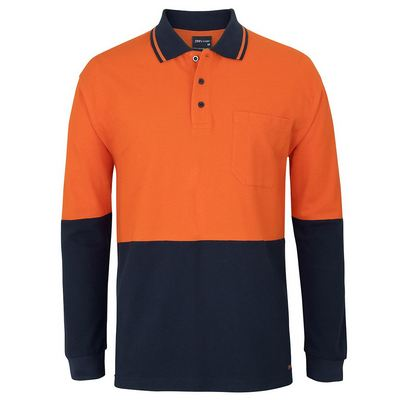Picture of JBs Hv L/S Cotton Pique Trad Polo