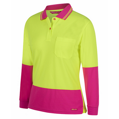 Picture of JBs Ladies Hv L/S Comfort Polo