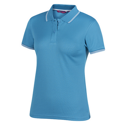 Picture of Pdm Ladies Jacquard Contrast Polo