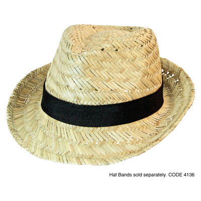 Picture of Fedora Straw Hat Natural