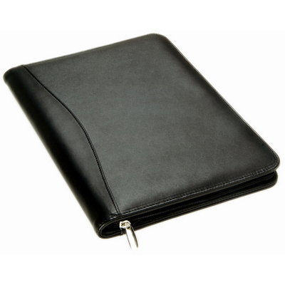 Picture of Leather Compendium with Calculator Black