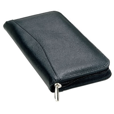 Picture of Leather Travel Wallet Black
