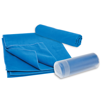 Picture of Sports Towel in Container Turquoise