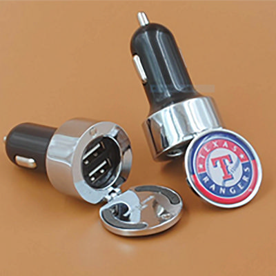 Picture of Dual Round Metal Car Charger