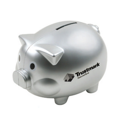 Picture of Coin Bank Pig Shape with Silver