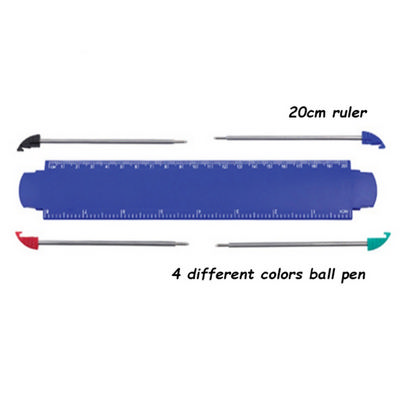 Picture of Ruler with 4pcs Ball Pen