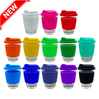Picture of Carlo Glass Coffee Cup - Silicone Band
