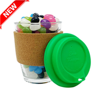 Picture of Jelly Bean In Cork Band Glass Coffee Cup