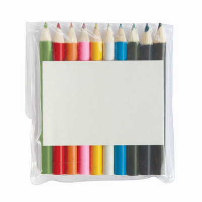 Picture of Half Pencils Colouring 10 Pack Pouch