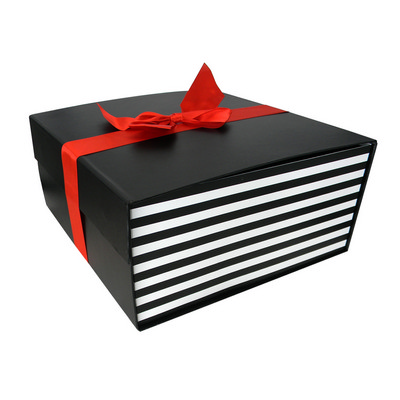 Picture of Large Flat Pack Gift Box with Ribbon