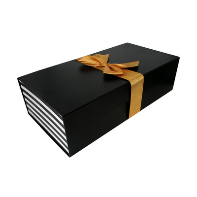 Picture of Rectangular Flat Pack Gift Box with Ribb