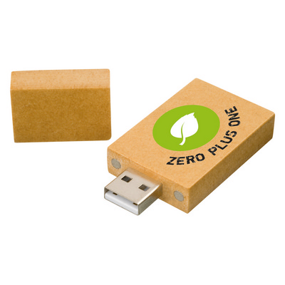Picture of Recycled paper rectangle USB