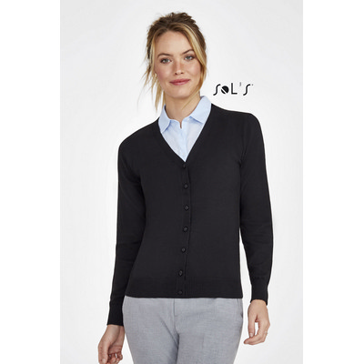 Picture of GOLDEN WOMENS V-NECK KNITTED CARDIGAN