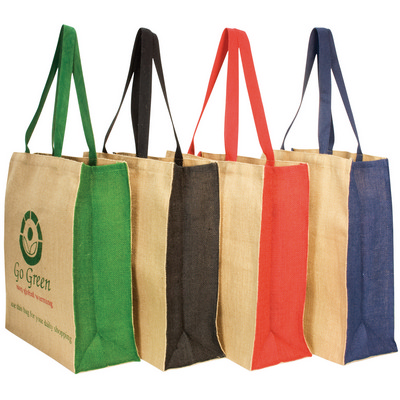 Picture of Jute panelled carry-all