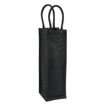 Picture of Jute wine bag - single