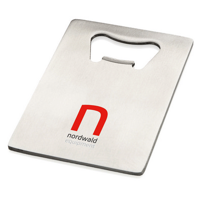 Picture of Stainless steel credit card bottle openerCredit card size bottle opener