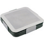 Prestige stainless steel coaster set