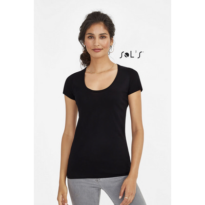 Picture of MUST WOMENS ROUND NECK SHEER JERSEY T-SH