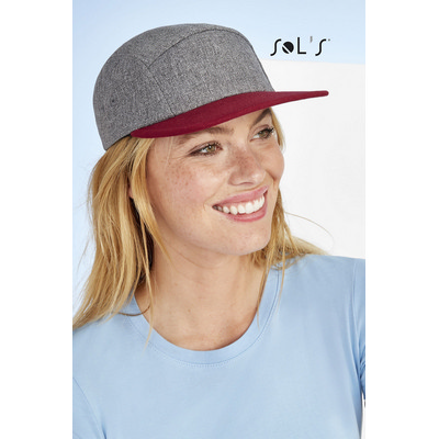 Picture of RAMSEY 5-PANEL HEATHER TWO-COLOUR CAP