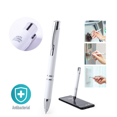 Picture of ANTIBACTERIAL STYLUS TOUCH BALL PEN TOPENAntibacterial ball pen with push-up mech
